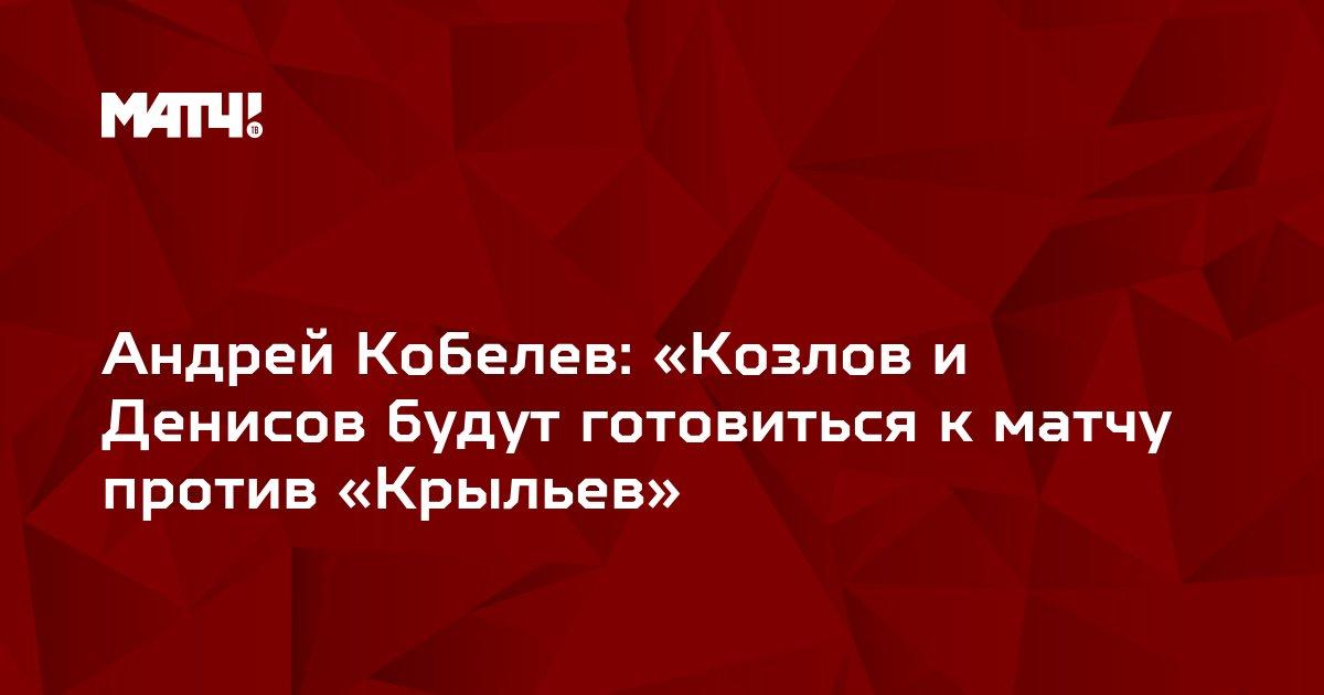 Андрей Кобелев: «Козлов и Денисов будут готовиться к матчу против «Крыльев»