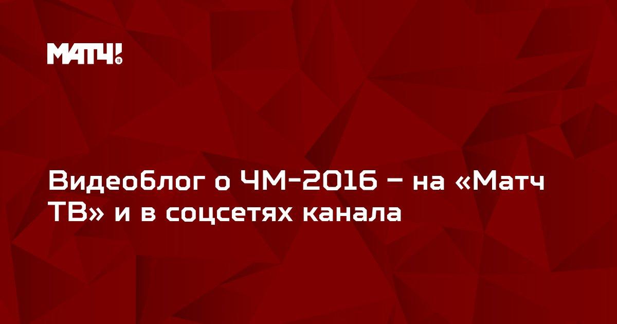 Видеоблог о ЧМ-2016 – на «Матч ТВ» и в соцсетях канала