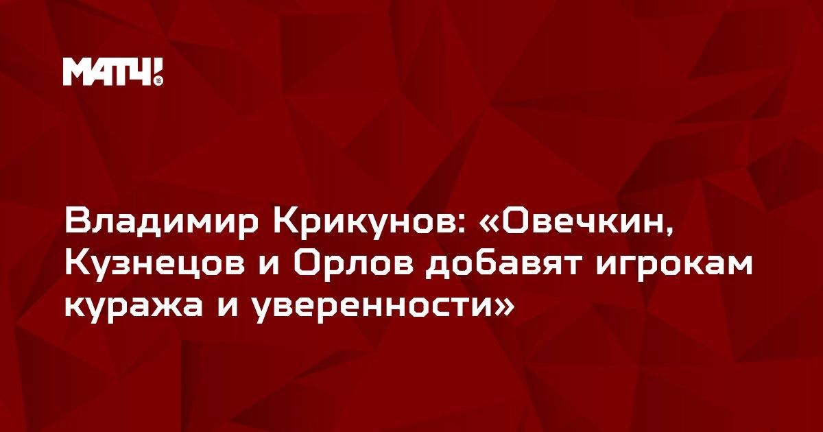 Владимир Крикунов: «Овечкин, Кузнецов и Орлов добавят игрокам куража и уверенности»