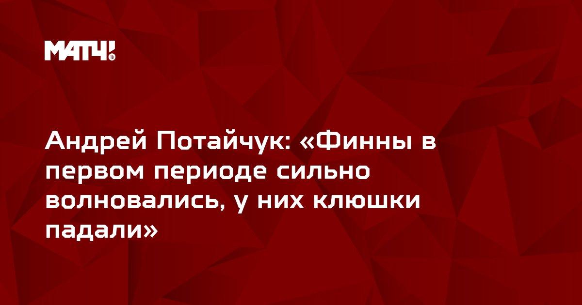 Андрей Потайчук: «Финны в первом периоде сильно волновались, у них клюшки падали»