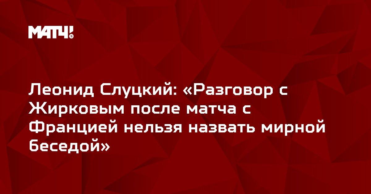 Леонид Слуцкий: «Разговор с Жирковым после матча с Францией нельзя назвать мирной беседой»
