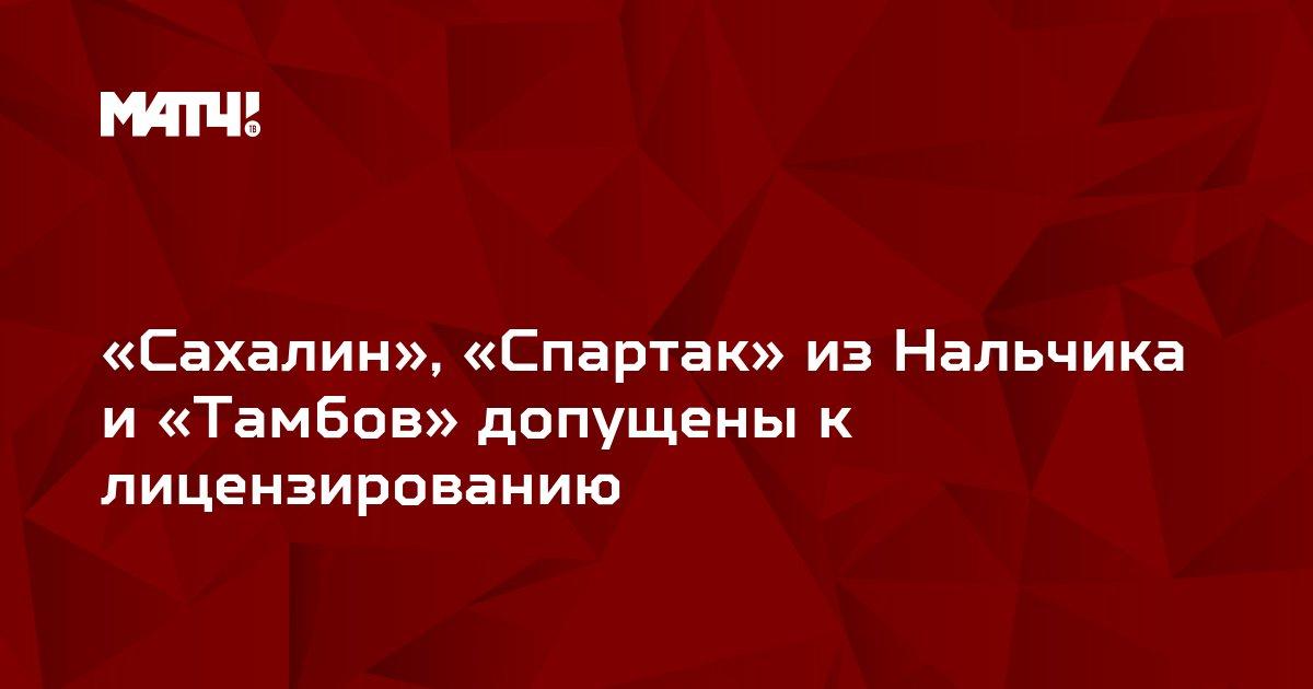«Сахалин», «Спартак» из Нальчика и «Тамбов» допущены к лицензированию