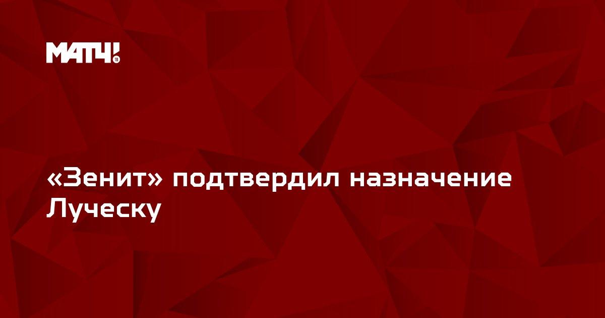 «Зенит» подтвердил назначение Луческу