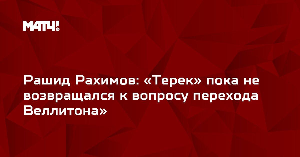 Рашид Рахимов: «Терек» пока не возвращался к вопросу перехода Веллитона»