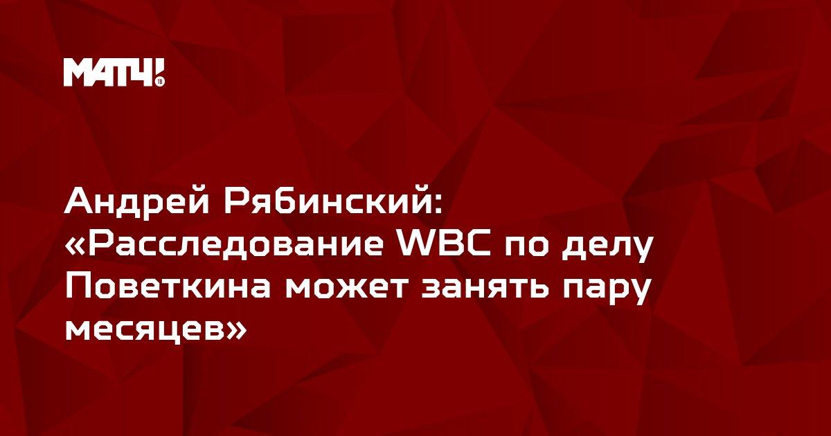 Андрей Рябинский: «Расследование WBC по делу Поветкина может занять пару месяцев»