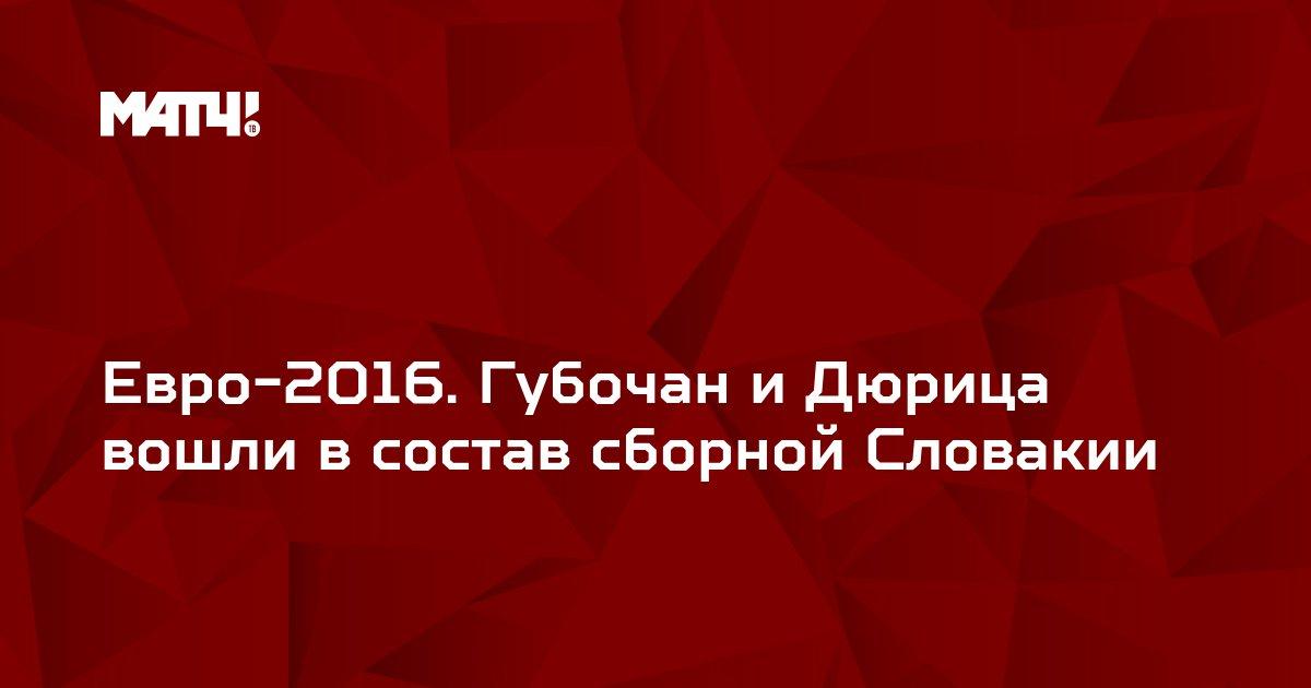 Евро-2016. Губочан и Дюрица вошли в состав сборной Словакии