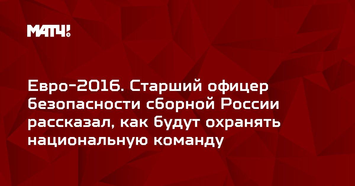 Евро-2016. Старший офицер безопасности сборной России рассказал, как будут охранять национальную команду