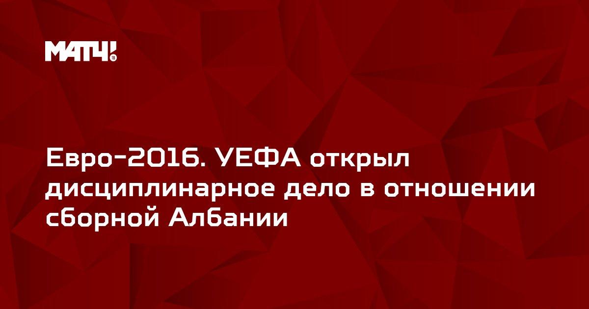 Евро-2016. УЕФА открыл дисциплинарное дело в отношении сборной Албании