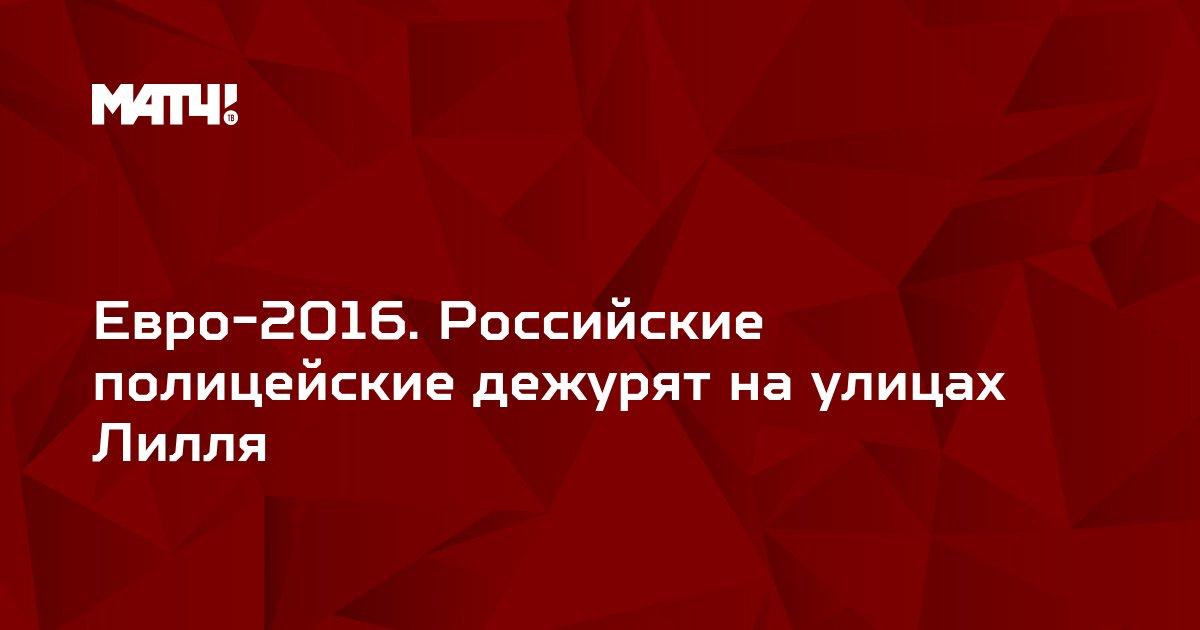 Евро-2016. Российские полицейские дежурят на улицах Лилля