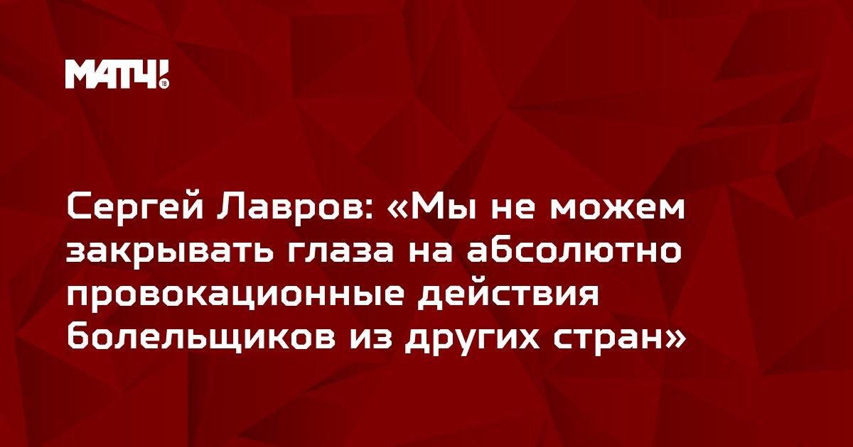 Сергей Лавров: «Мы не можем закрывать глаза на абсолютно провокационные действия болельщиков из других стран»