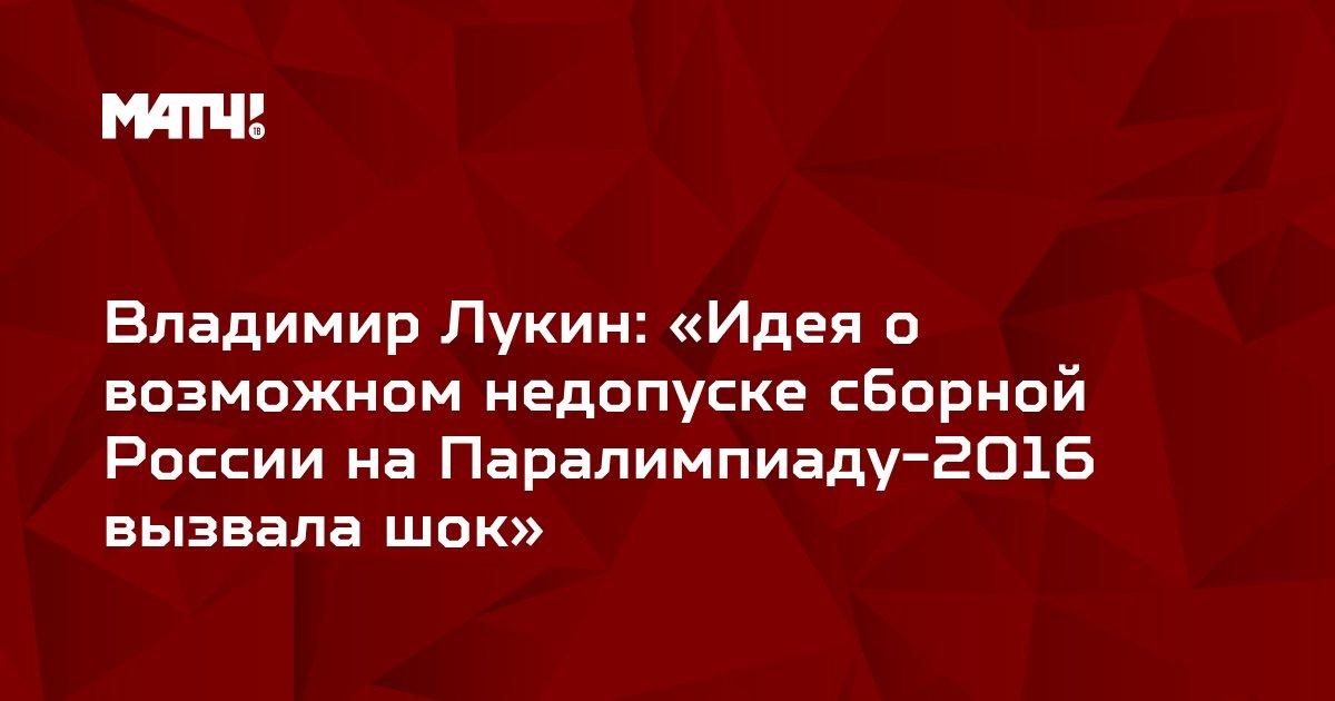 Владимир Лукин: «Идея о возможном недопуске сборной России на Паралимпиаду-2016 вызвала шок»