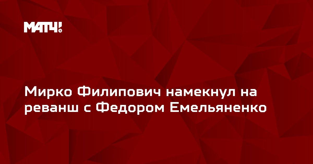Мирко Филипович намекнул на реванш с Федором Емельяненко