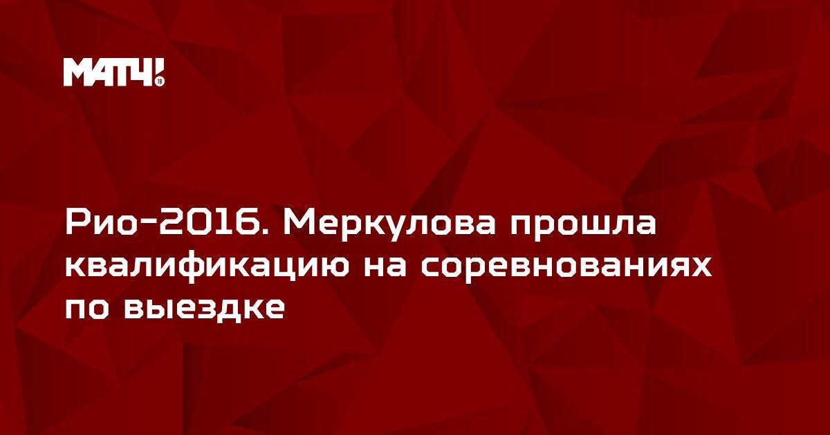 Рио-2016. Меркулова прошла квалификацию на соревнованиях по выездке