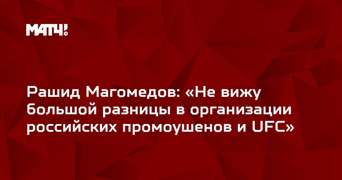 Рашид Магомедов: «Не вижу большой разницы в организации российских промоушенов и UFC»