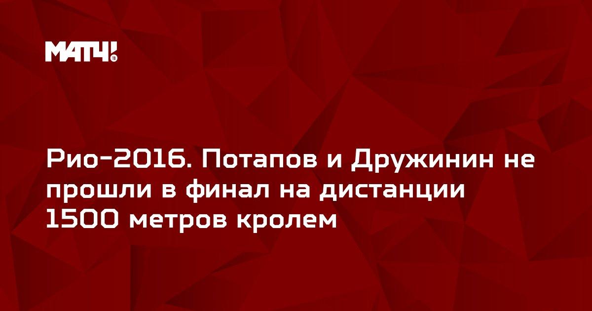 Рио-2016. Потапов и Дружинин не прошли в финал на дистанции 1500 метров кролем
