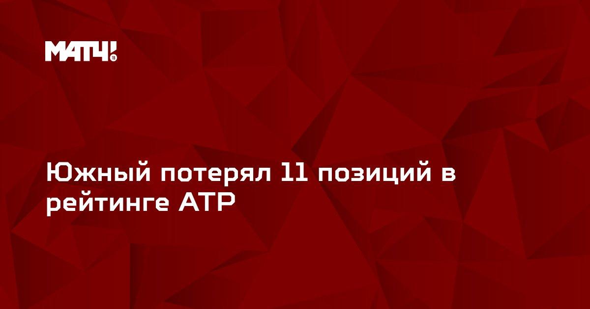 Южный потерял 11 позиций в рейтинге ATP