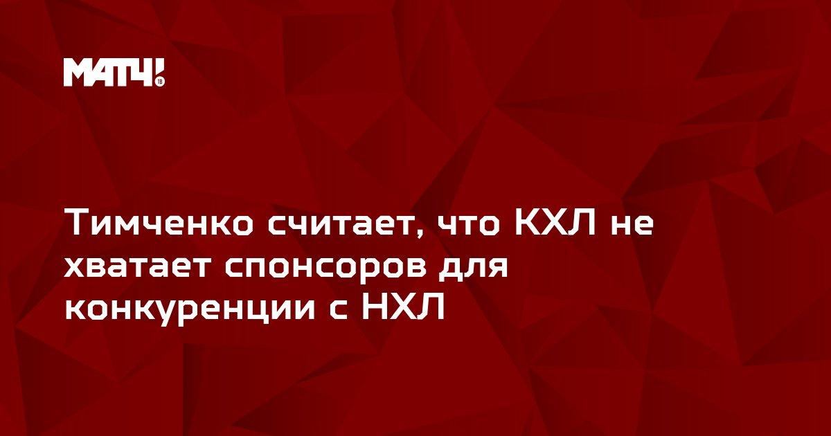 Тимченко считает, что КХЛ не хватает спонсоров для конкуренции с НХЛ
