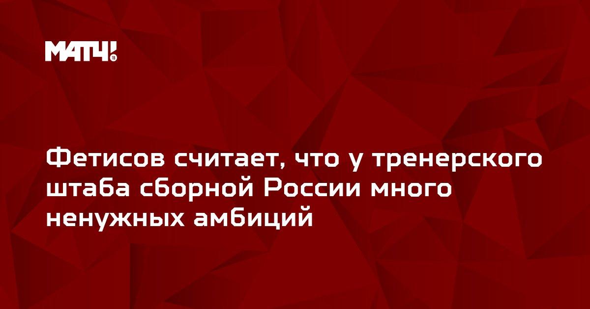 Фетисов считает, что у тренерского штаба сборной России много ненужных амбиций