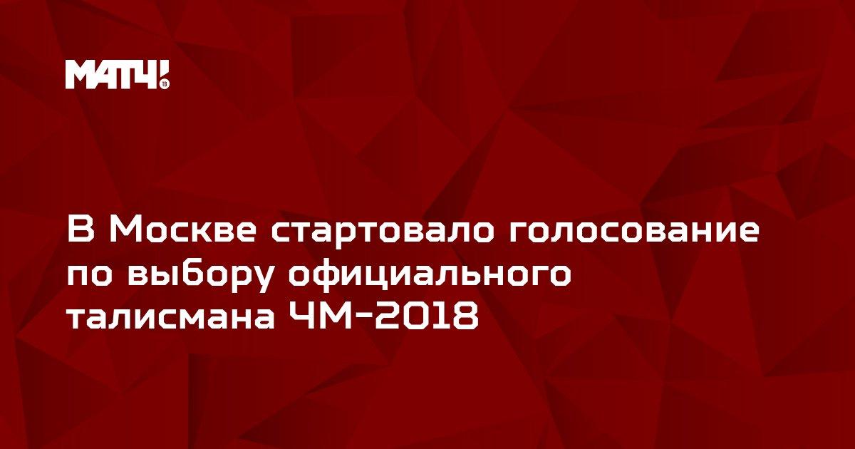 В Москве стартовало голосование по выбору официального талисмана ЧМ-2018