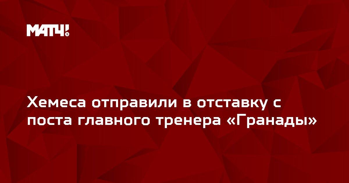 Хемеса отправили в отставку с поста главного тренера «Гранады»