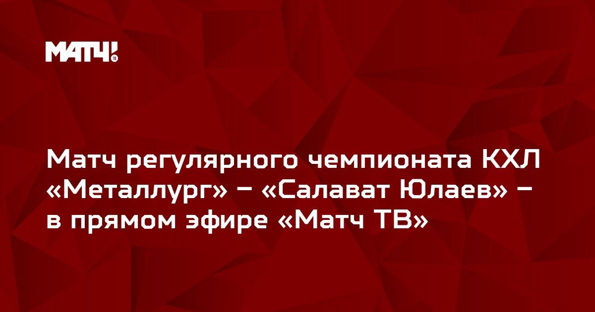 Матч регулярного чемпионата КХЛ «Металлург» – «Салават Юлаев» – в прямом эфире «Матч ТВ»