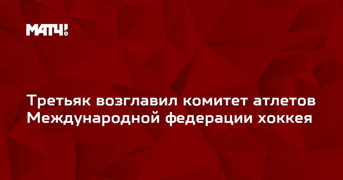 Третьяк возглавил комитет атлетов Международной федерации хоккея