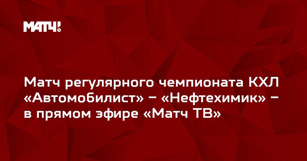Матч регулярного чемпионата КХЛ «Автомобилист» – «Нефтехимик» – в прямом эфире «Матч ТВ»