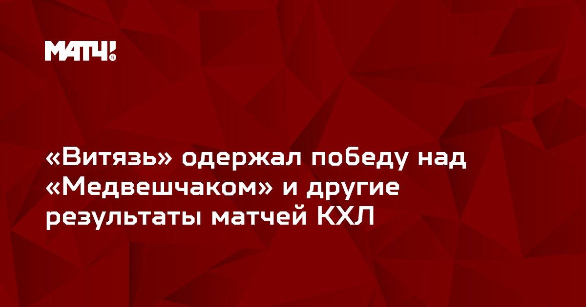 «Витязь» одержал победу над «Медвешчаком» и другие результаты матчей КХЛ