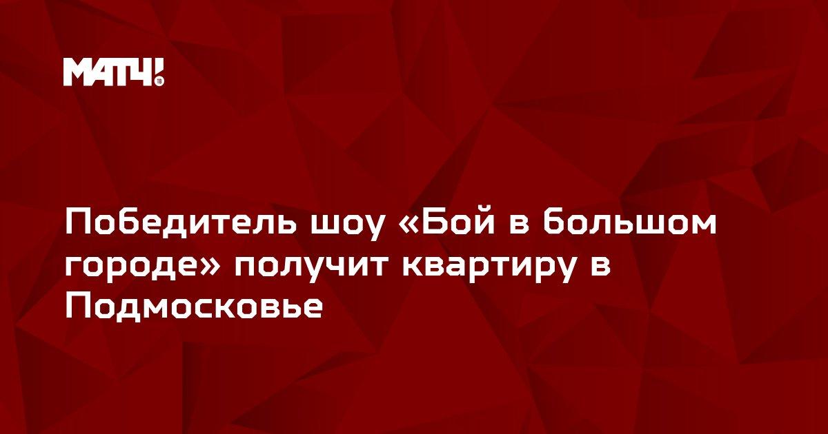 Победитель шоу «Бой в большом городе» получит квартиру в Подмосковье
