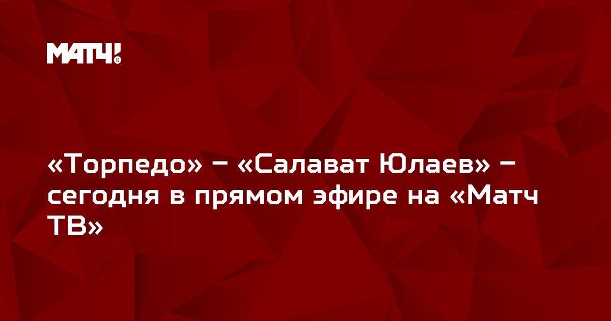 «Торпедо» – «Салават Юлаев» – сегодня в прямом эфире на «Матч ТВ»