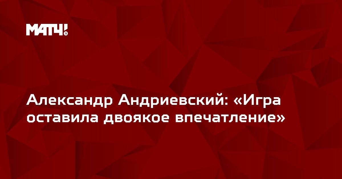 Александр Андриевский: «Игра оставила двоякое впечатление»