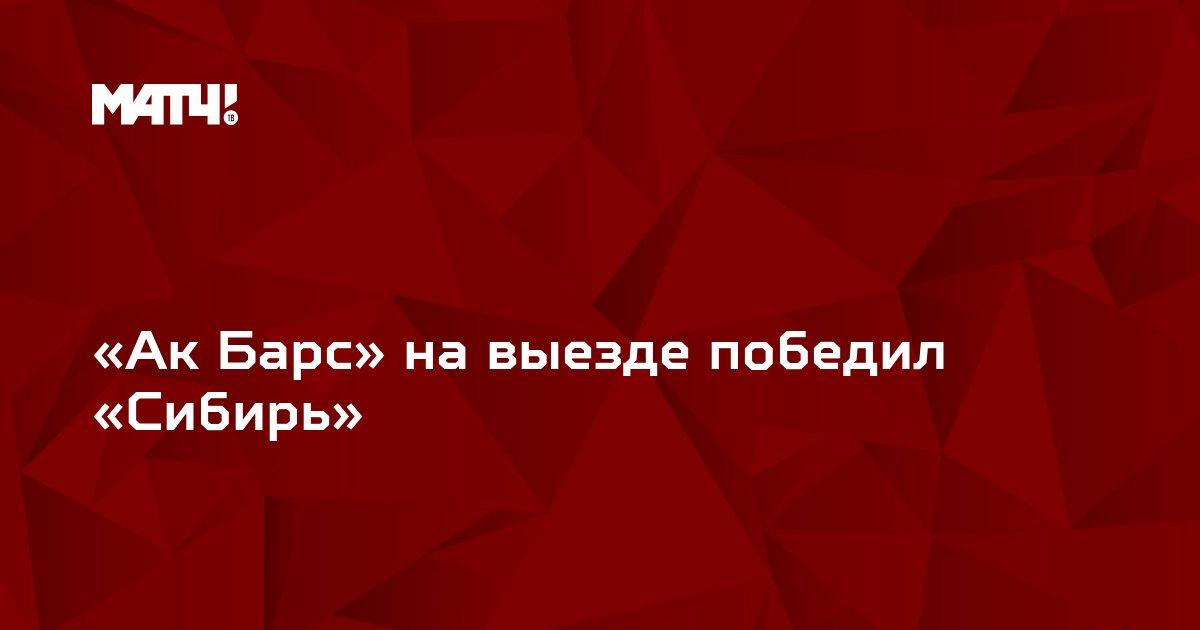 «Ак Барс» на выезде победил «Сибирь»