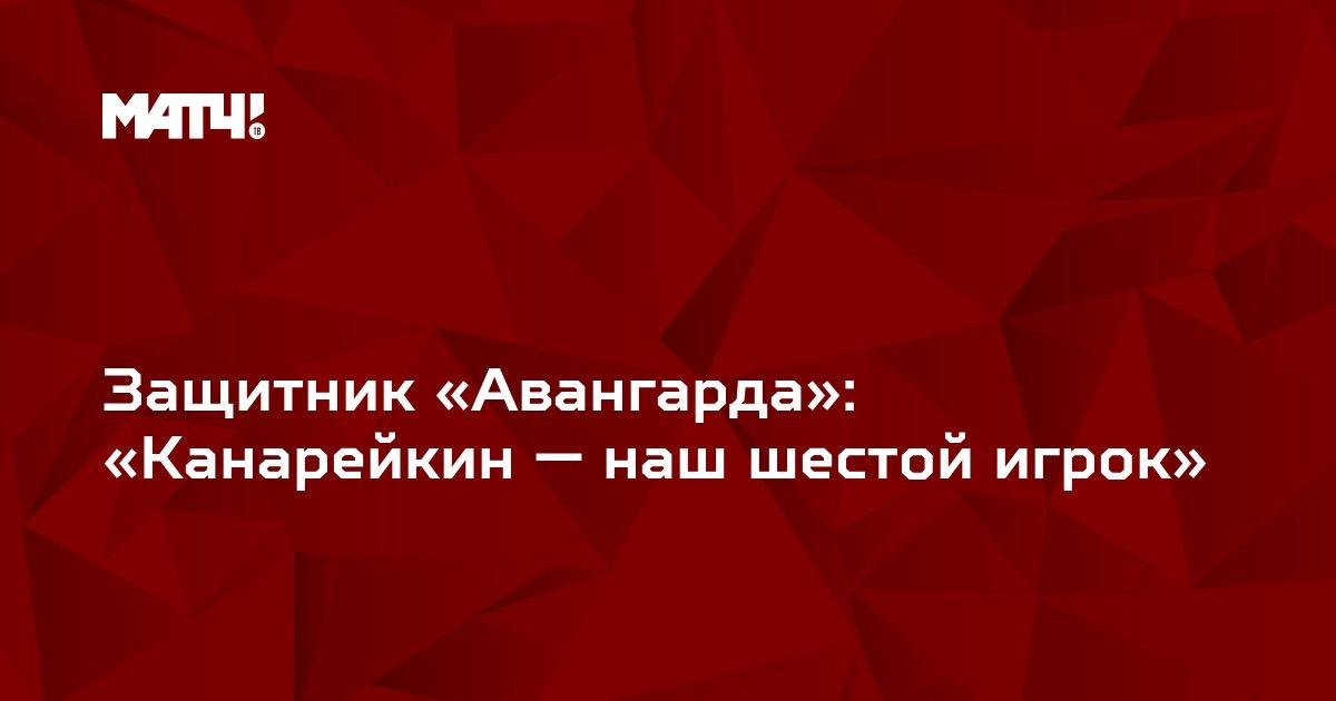 Защитник «Авангарда»: «Канарейкин — наш шестой игрок»