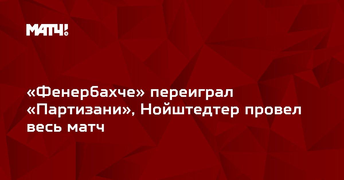 «Фенербахче» переиграл «Партизани», Нойштедтер провел весь матч