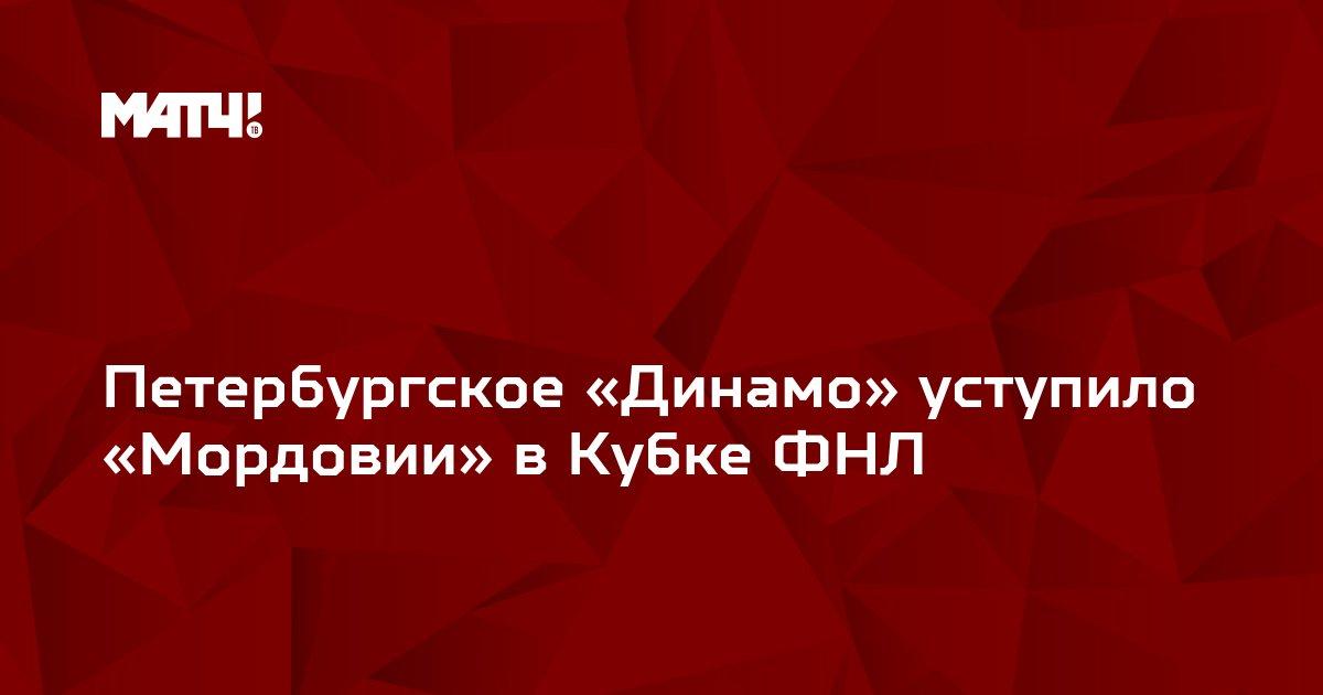 Петербургское «Динамо» уступило «Мордовии» в Кубке ФНЛ