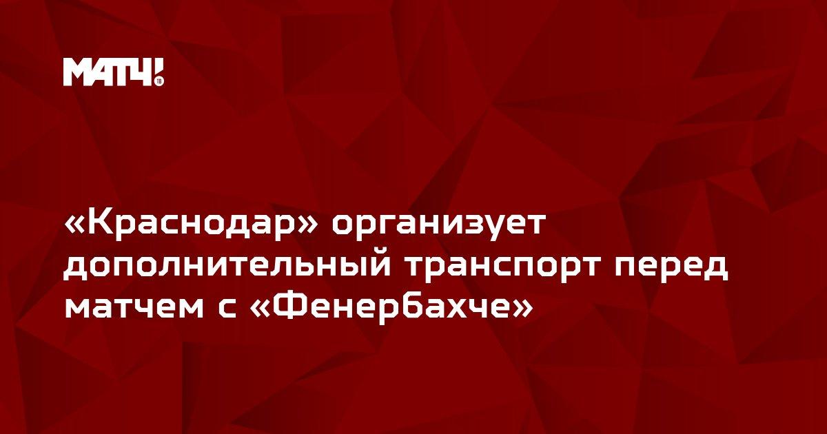 «Краснодар» организует дополнительный транспорт перед матчем с «Фенербахче»