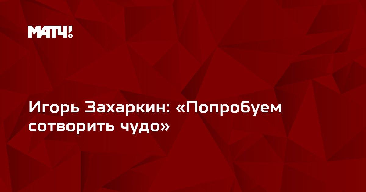 Игорь Захаркин: «Попробуем сотворить чудо»