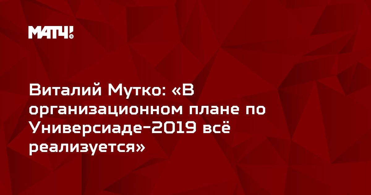 Виталий Мутко: «В организационном плане по Универсиаде-2019 всё реализуется»