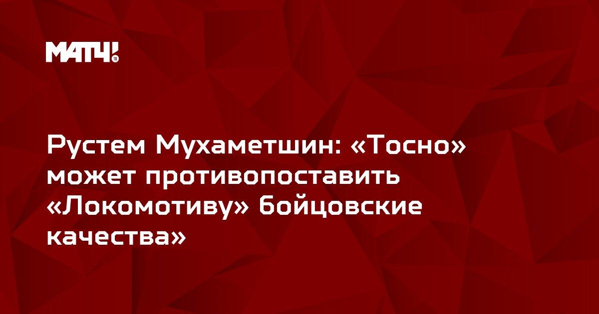 Рустем Мухаметшин: «Тосно» может противопоставить «Локомотиву» бойцовские качества»