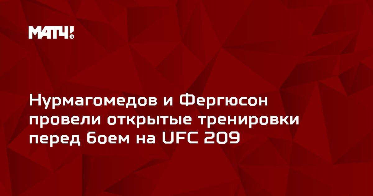 Нурмагомедов и Фергюсон провели открытые тренировки перед боем на UFC 209