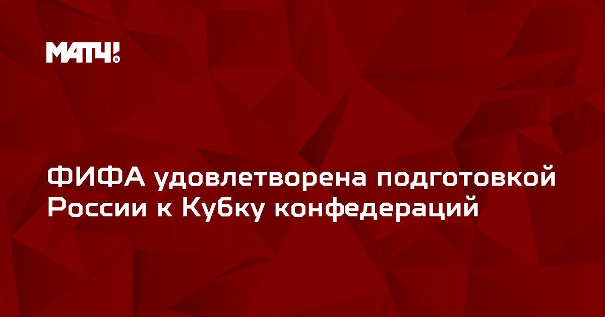 ФИФА удовлетворена подготовкой России к Кубку конфедераций