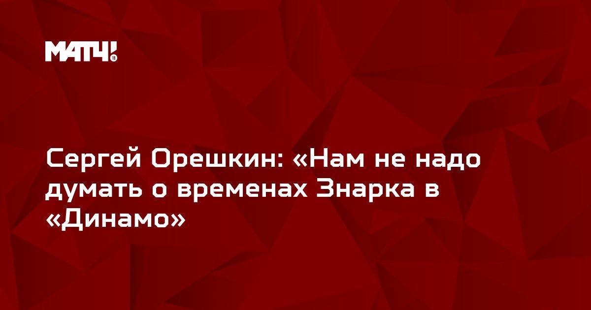 Сергей Орешкин: «Нам не надо думать о временах Знарка в «Динамо»