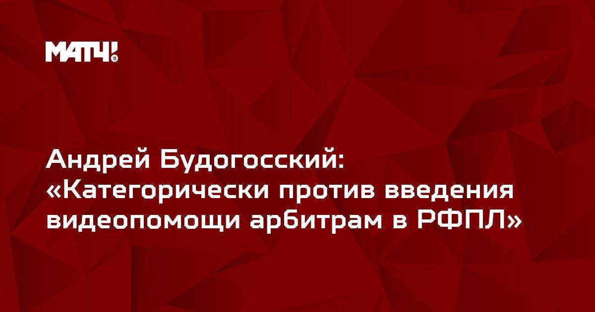 Андрей Будогосский: «Категорически против введения видеопомощи арбитрам в РФПЛ»