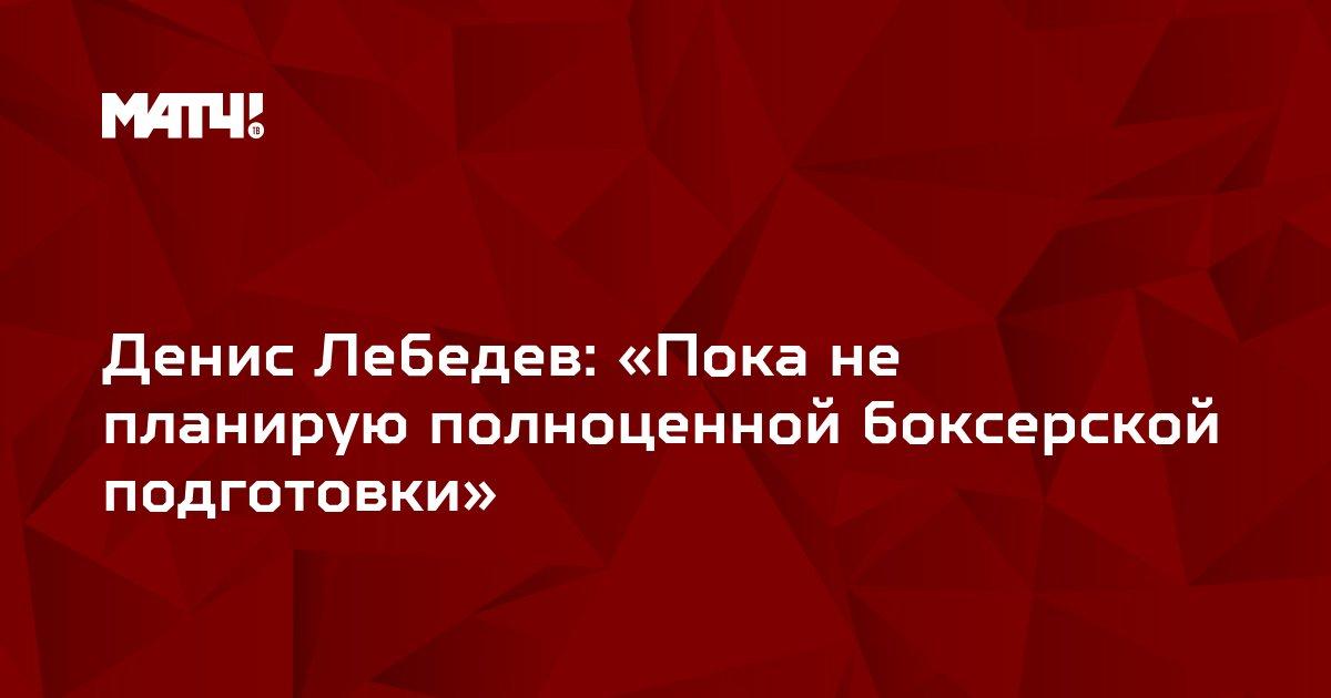 Денис Лебедев: «Пока не планирую полноценной боксерской подготовки»