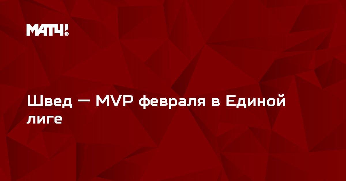 Швед — MVP февраля в Единой лиге