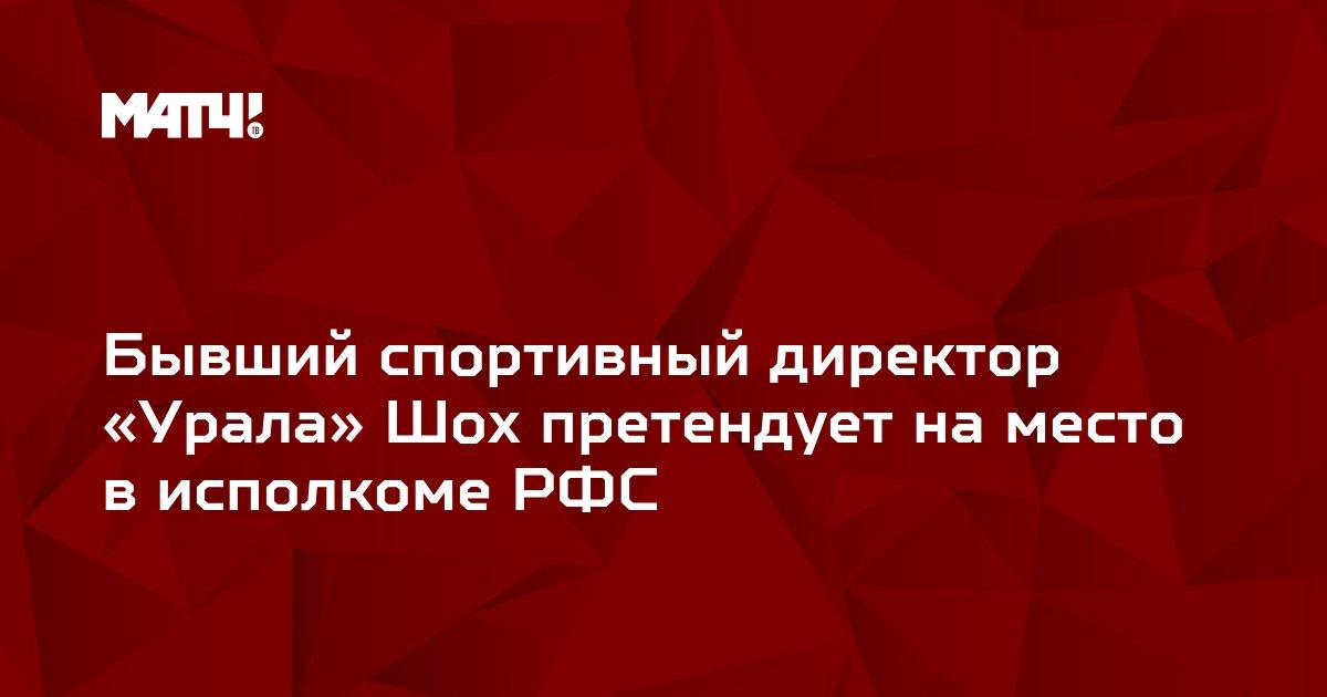 Бывший спортивный директор «Урала» Шох претендует на место в исполкоме РФС