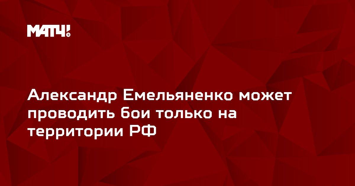 Александр Емельяненко может проводить бои только на территории РФ