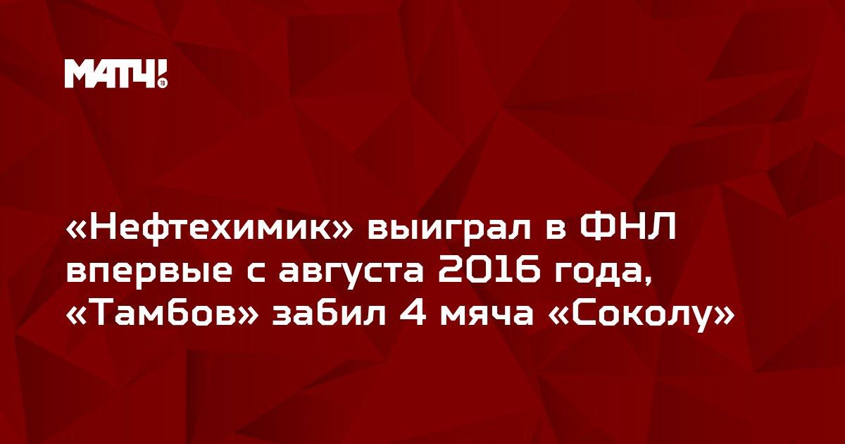 «Нефтехимик» выиграл в ФНЛ впервые с августа 2016 года, «Тамбов» забил 4 мяча «Соколу»