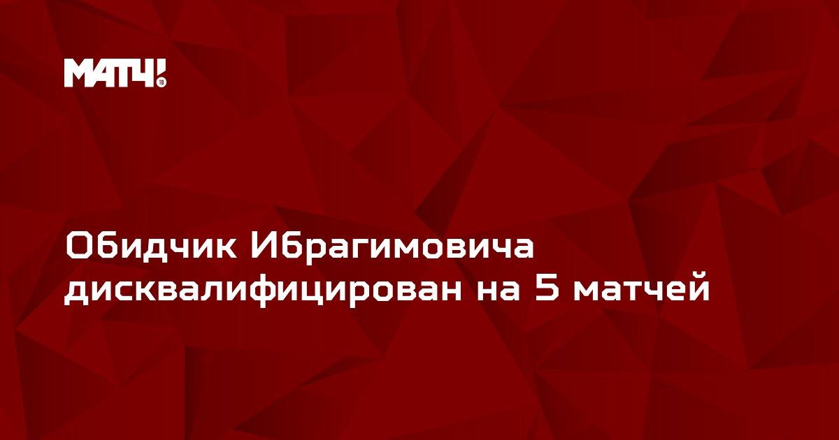 Обидчик Ибрагимовича дисквалифицирован на 5 матчей
