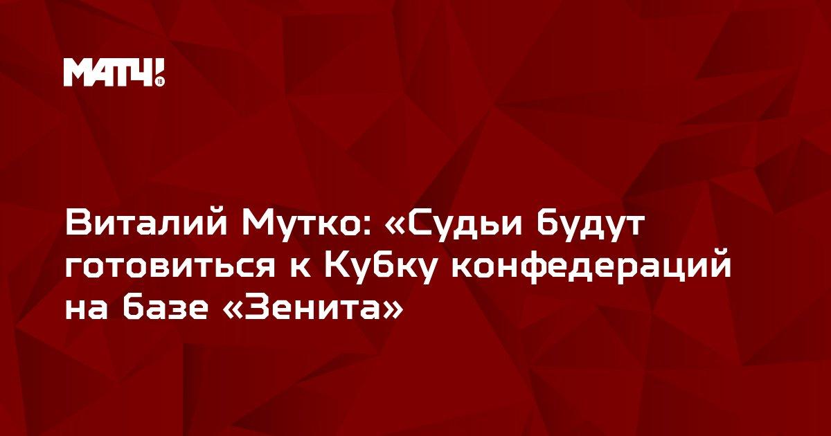 Виталий Мутко: «Судьи будут готовиться к Кубку конфедераций на базе «Зенита»